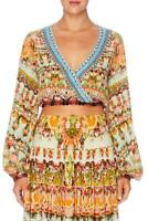 Camilla Franks Samba Salada Wrap Front Midriff Top- Size Medium