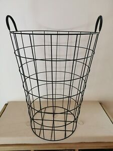 Large Farm Decorative Display Garden Log Laundry Wire Basket Storage Organiser