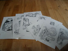 ULTRA RARE The Realms of Tony DiTerlizzi Dungeon Drawings Art Prints (MINT)