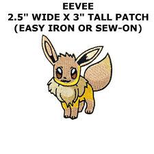 Eevee Poke Ball Patch Iron on Pikachu Nintendo Ash Pocket Pokemon Cartoon Badge