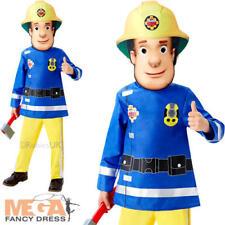 Fireman Sam edad 2-3 CHICOS CHILDS DIBUJOS ANIMADOS Vestido Elaborado Disfraz Uniforme De Bombero