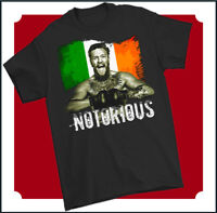 CONOR MCGREGOR T-SHIRT MMA UFC Mixed Martial Arts Boxing Training Top Gym Tee