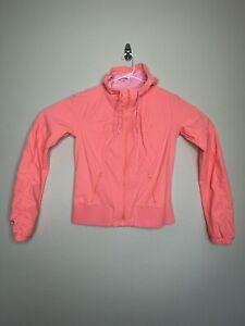 Lululemon Street To Studio Jacket Coral Orange Zip Hoodie Jacket Womens 8