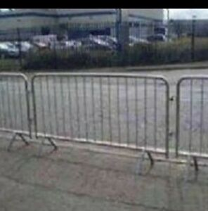 PEDESTRIAN BARRIERS - CROWD CONTROL used but  good condition (fixed leg)£17.00