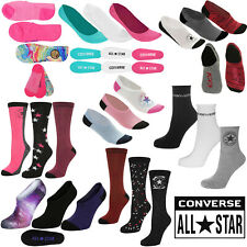 Converse Socks 3 Pack Pair Designer Trainer Ankle Boot Shoe Liners  Womens Size