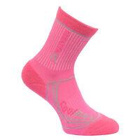 Regatta Two Season Kids Trek and Trail Socks Black & Pink Boys Girls Walking