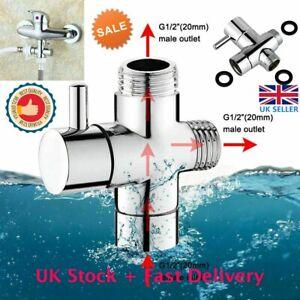 UK 3 Way Diverter Valve Part Water Round Shower Segregator Handheld Replacement