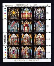 Guernsey1993 postfrisch Kleinbogen MiNr. 622-633  Weihnachten: Glasmalerei