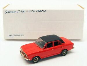 Pathfinder GTA Models 1/43 Scale Model Car GTA02 - Ford Cortina Mk2 - Red