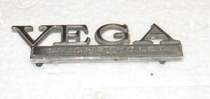 "Chevrolet VEGA 4"" Wide Car Emblem with 2 Intact Posts - In Nice Shape Chevy Vega"