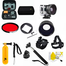 Pro Accessories For Gopro Hero4 Silver Edition Snorkel Scuba Lens Filter Case