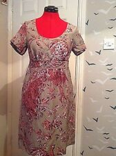 Joules Boutique Vintage style linen/ silk dress , size 8. Stunning .worn once.