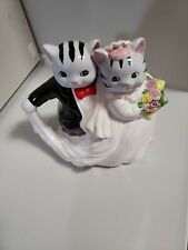 Vintage Cat Bride and Groom Ceramic Teapot- Wedding Anniversary