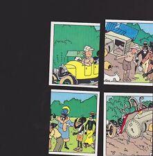Herge Tintin Panini 1989 autocollant 4 im 33 34 35 36