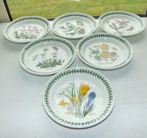 Portmeirion Botanic  Garden 6 x Dessert Side Plates 18.5cm Saffron Daisy Ivy