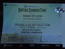 Kings of leon concert tickets- Hyde park London 6th July 2017