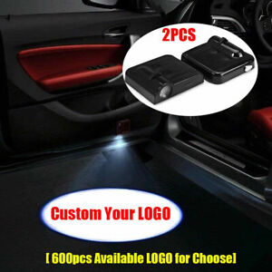 Custom Your Logo Wireless Laser Projector Car Door Shadow Welcome Lights 2PCS