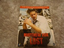 LOST Emmy ad with Matthew Fox as Jack Shephard for Best Actor