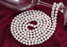 Classic 9-10mm south sea white round pearl necklace 48 inch 14k JN1050