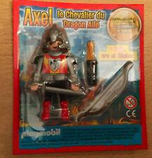 PLAYMOBIL PLAYMO FIGURINE DE MAGAZINE PUBLICITAIRE AXEL LE CHEVALIER DES DRAGON