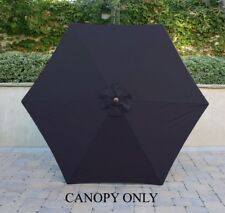 9ft Replacement Market Umbrella Canopy 6 Ribs in Dark Navy (Canopy Only)