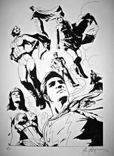 Michael Montenat SIGNED Art Print 4/10 JLA Shazam Power Girl Wonder Woman Batman