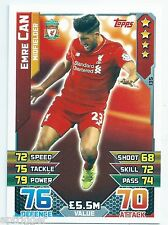 2015 / 2016 EPL Match Attax Base Card (135) Emre CAN Liverpool