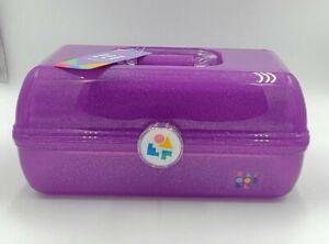 Beauty Caboodles On-The-Go Girl Purple Sparkle Jellies Vintage Case 1 Lb Cab5626