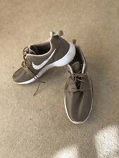 Nike Tainers Roshe Trainers Beige Gold 10 Uk