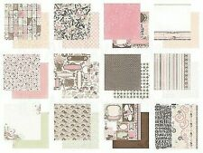 Bo Bunny - Primrose Collection - 12 x 12 Collection Card Stock Pack & Stickers