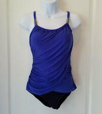 New Blue Venus One Piece Faux Wrap Swimsuit Swimwear Size 10