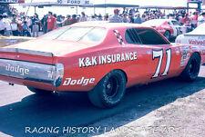1975 DAYTONA 500 8x10 PHOTO #71 DAVE MARCIS K&K INSURANCE DODGE MOPAR RACING 71
