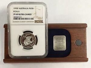 1995 P Australia Pt Platinum $50 Koala NGC PF 69 Ultra Cameo 1/2 OZ