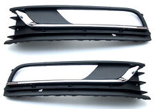 VW Passat A32 B7 2011-2015 Saloon Parachoques Rejilla inferior con luces antiniebla Agujero Conjunto de 1 *