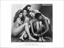 Herb RITTS Five Models Vintage 1989 Original Poster 23-1/2 x 31-1/2