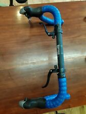 Handlebars 9 speed Shifters and cross levers, wrapped 25.4 Black Blue