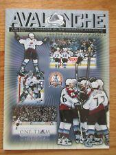 2001 NHL Stanley Cup Finals COLORADO AVALANCHE vs DEVILS Game 2 Program BOURQUE
