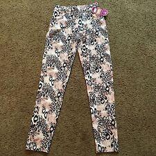 Cheetah Print Animal Leggings S/M Pockets Womens NWT