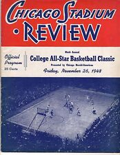 1948 College All Star Basketball Classic Program Lakers George Mikan