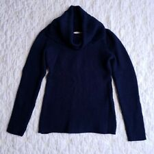 Banana Republic Womens Navy Blue Cowl Neck Wool Sweater Size XS
