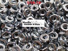 (5) 5/16-18 Heavy Hex Jam Nuts Thick Nut / Half Thick heavy 5/16x18  Zinc