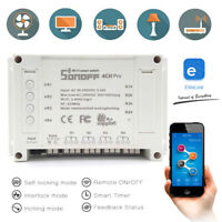 SONOFF 4CH Pro R2 Smart Switch 433MHz RF Wifi APP Remote 4 Channel Din Rail HA1