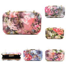 Ladies Flowers Print Clutch Bag Wedding Party Prom Events Fashion Designer