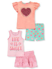 Colette Lilly Girls' Life is Sweet 4-Piece Shorts Set Outfit