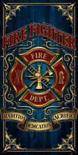 New Fire Dept Firefighter Beach Bath Pool Gift Towel Fireman Emblem Shield Brave