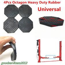 4 Pcs Octagon 135*10mm Black Car Truck Lift Arm Heavy Duty Rubber Pads Universal