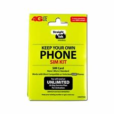 Straight Talk 4G LTE Keep Your Own Phone SIM Kit Nano/Micro/Standard SIM Card...