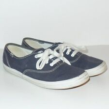 Keds Womens Casual Shoes Navy Blue Lace Up Sneakers 6