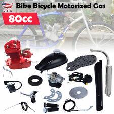 80cc 2 Stroke RED Cycle Motor Kit Bike Motorized Petrol Gas Bicycle Engine US
