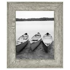 "Mainstays 8"" x 10"" Tabletop Wall Hanging Picture Photo Rustic Gray Frame"